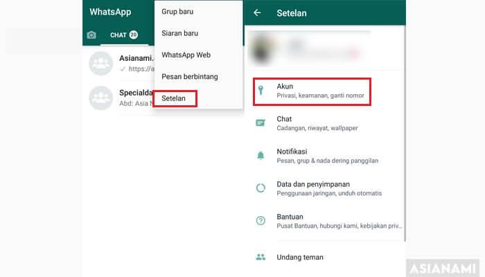 cara menghilangkan status online di WhatsApp (WA)