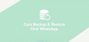 cara backup dan restore chat whatsapp