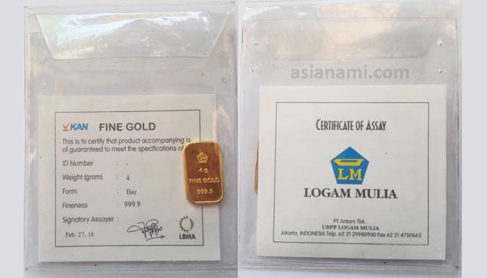 Emas Antam 4 gram