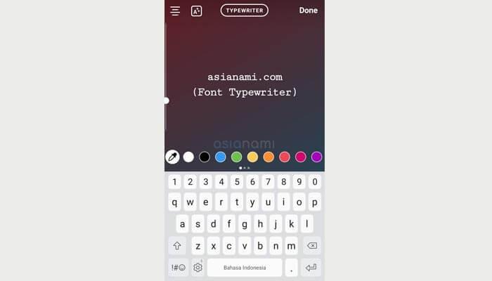 Nama dan Jenis Font Instagram Story