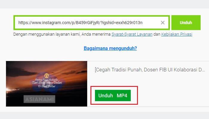 cara download (menyimpan) video dari instagram tanpa aplikasi