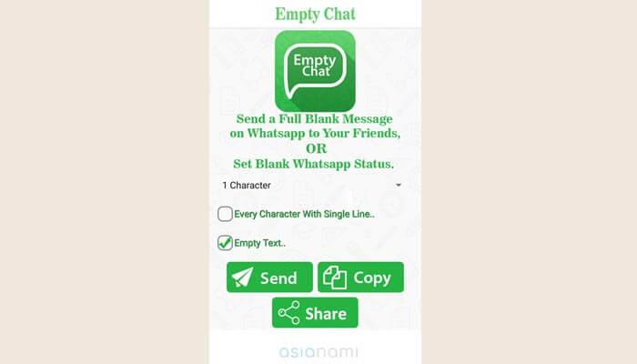 cara bikin teks kosong di WA