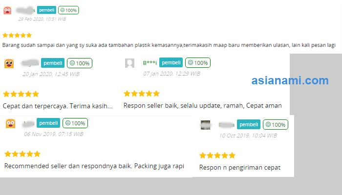 tips jualan online agar dapat ulasan / review positif dari pembeli