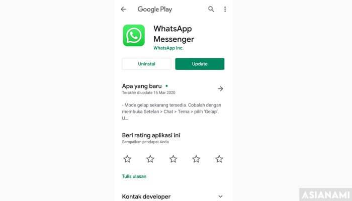 update whatsapp untuk menampilkan notifikasi