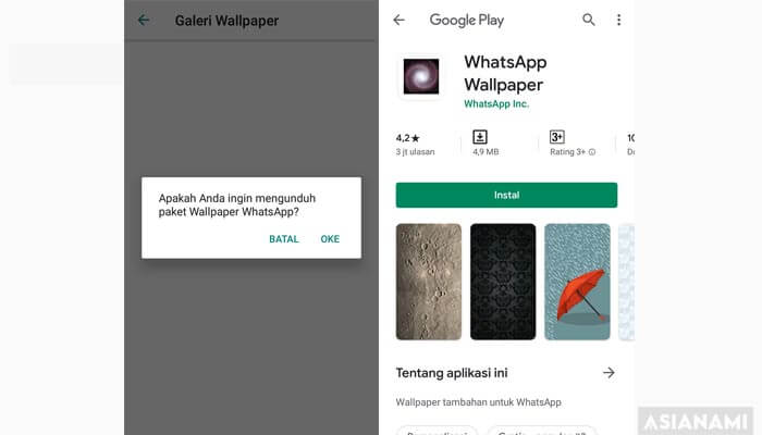 cara mengganti background ruang obrolan chat whatsapp