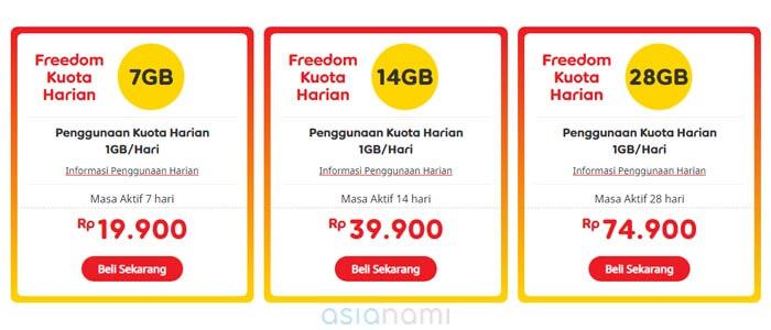 paket freedom im3 kuota harian