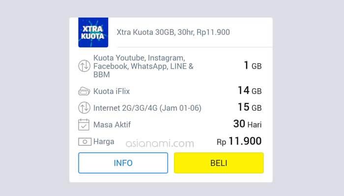 paket internet xl murah kuota besar