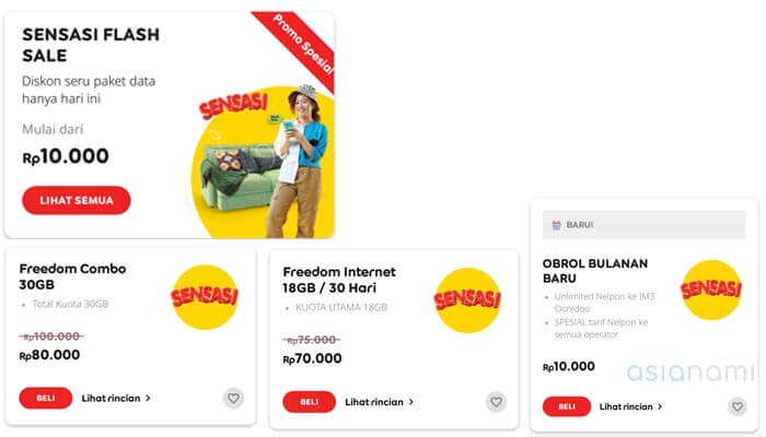 sensasi flash sale paket internet im3 ooredoo