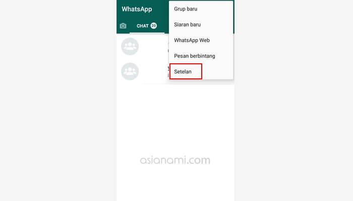 cara menyembunyikan status whatsapp