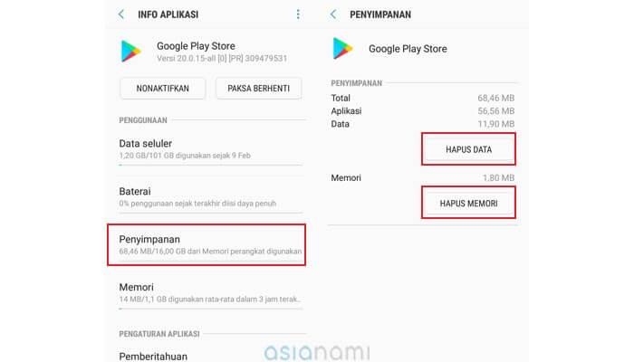 cara mengatasi Play Store Tidak Bisa Download aplikasi