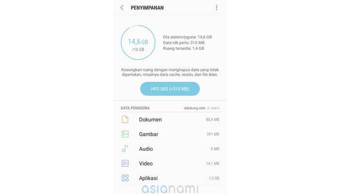 cara mengatasi Play Store Tidak Bisa Download aplikasi karena memori penuh