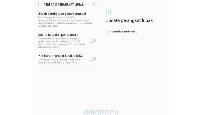 cara mengatasi aplikasi android eror dengan update sistem