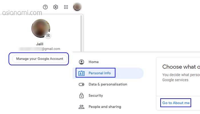 cara menghapus foto profil di akun google gmail