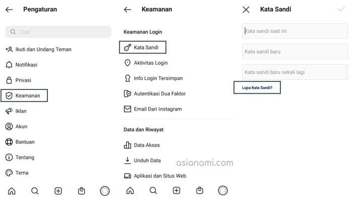 cara melihat password instagram sendiri