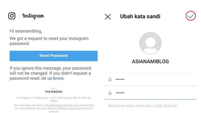 cara mengetahui password instagram tanpa email dan nomor hp